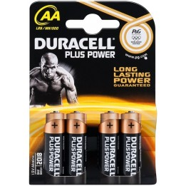 DURACELL PLUS POWER LR6/AA (MN1500) ALKÁLI MANGÁN ELEM (4 darabos szett)