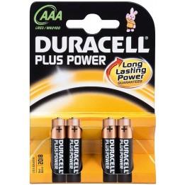DURACELL PLUS POWER LR03/AAA MICRO (MN2400) ALKÁLI MANGÁN ELEM (4 darabos szett)